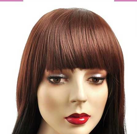 frange clips 15cm couleur 30 ch tain cuivre doux the queen wigs. Black Bedroom Furniture Sets. Home Design Ideas