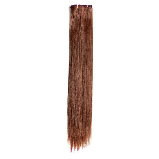 ▷ kit extension à clips lisse 70cm couleur #4/30 - châtain méché