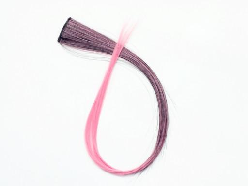 Extension Gardien Color 2 clips 55cm Couleur #B27 - Châtain méché Rose / Rose