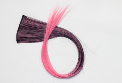Extension Gardien Color 5 clips 55cm Couleur #B27 - Châtain méché Rose / Rose