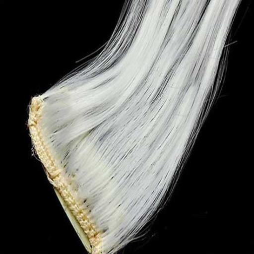Kit extension à clips Lisse 55cm Couleur #Blanc