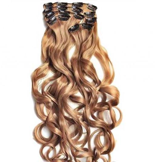 Kit extension à clips Bouclé 55cm Couleur #14 - Blond foncé