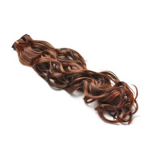 Kit extension à clips Bouclé 45cm Couleur #1B/30 - Brun méché cuivre