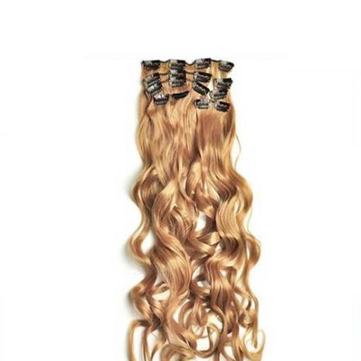 Kit extension à clips Bouclé 55cm Couleur #27 - Blond moyen