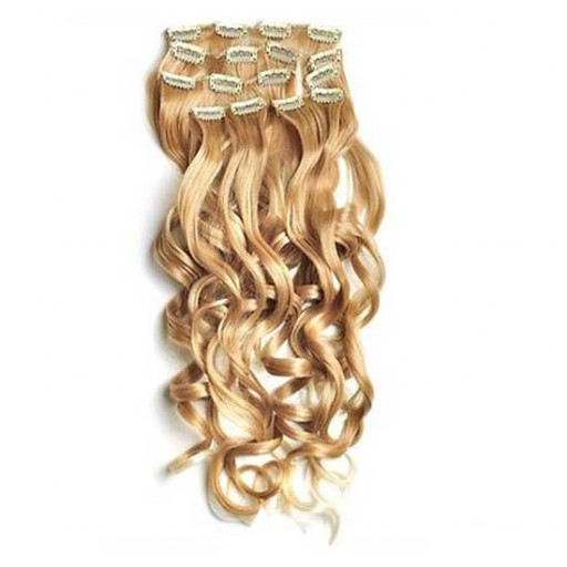 Kit extension à clips Bouclé 55cm Couleur #27T/613 - Blond méché