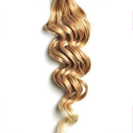 Kit extension à clips Bouclé 70cm Couleur #27T/613 - Blond méché