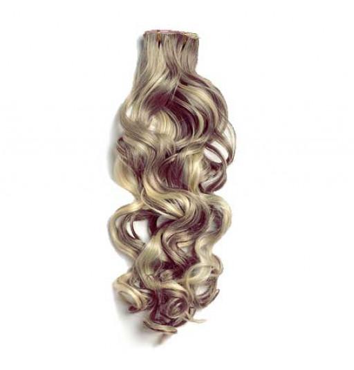 Kit extension à clips Bouclé 70cm Couleur #4/24 - Châtain méché blond