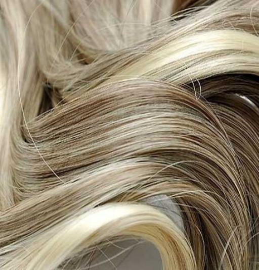 Kit extension Volume + Bouclé 55cm Couleur #4/613 - Châtain foncé méché blond clair