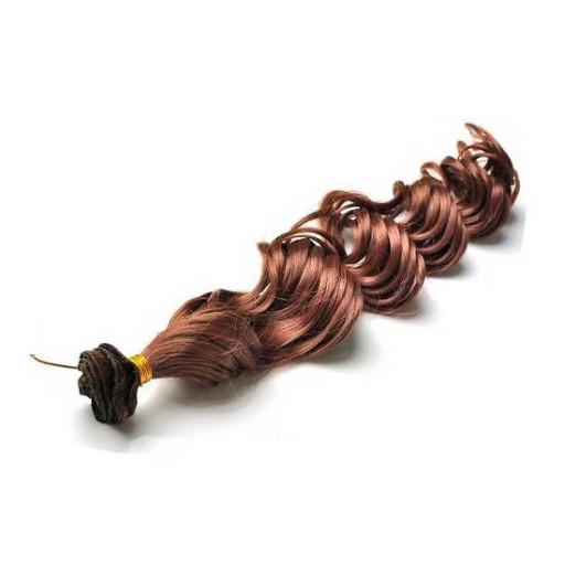 Kit extension à clips Bouclé 45cm Couleur #5 - Châtain moyen cuivré
