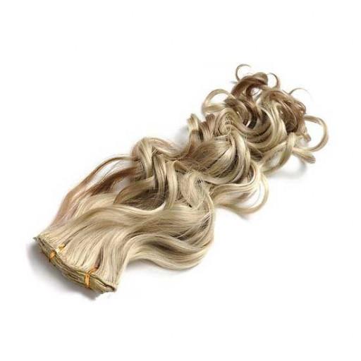 Kit extension à clips Bouclé 45cm Couleur #6/613 - Châtain clair méché blond
