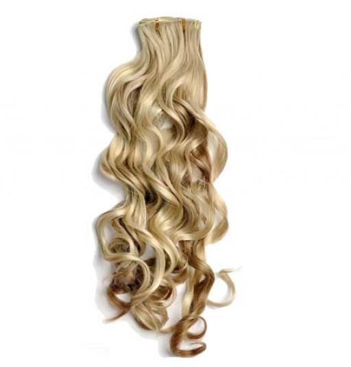 Kit extension à clips Bouclé 55cm Couleur #6/613 - Châtain clair méché blond