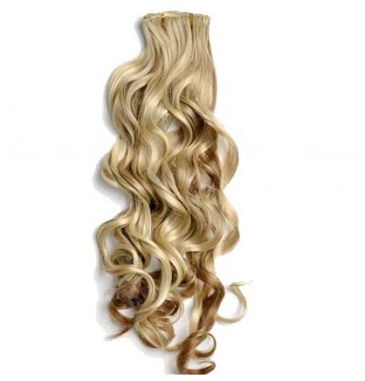 Kit extension à clips Bouclé 70cm Couleur #6/613 - Châtain clair méché blond