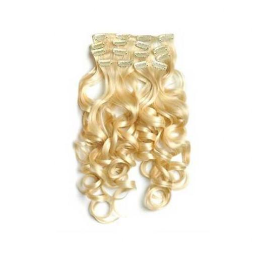 Kit extension à clips Bouclé 55cm Couleur #613 - Blond pâle