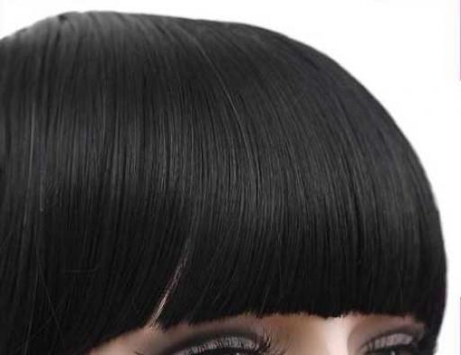 Frange à clips 15cm Couleur #2 - Noir Brun
