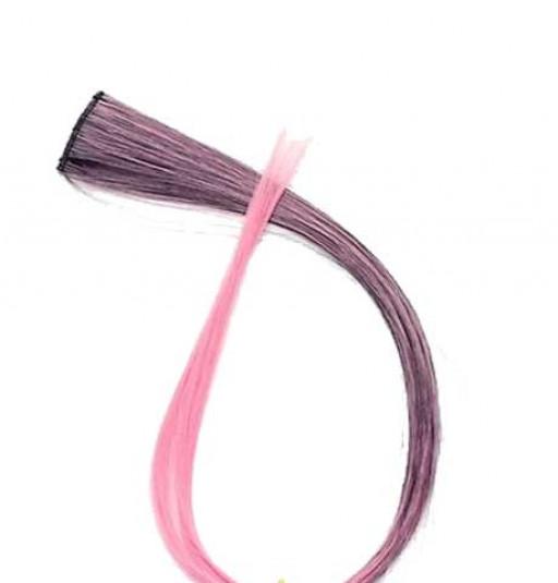 Extension Gardien Color 1 clip 55cm Couleur #B27 - Châtain méché Rose / Rose