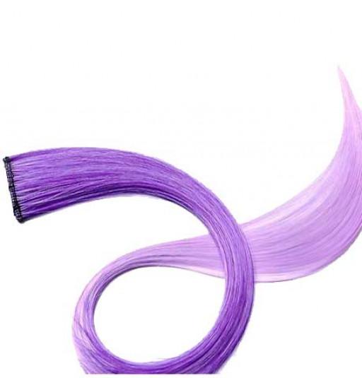 Extension Gardien Color 1 clip 55cm Couleur #K7 - Violet / Violet clair
