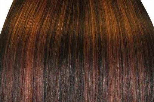 KitQueen Lisse 60cm Couleur #1B/30 - Brun méché cuivre