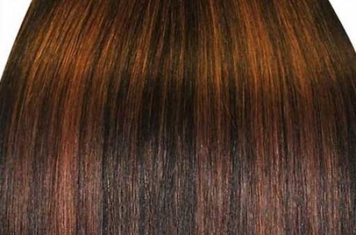 KitQueen Lisse 50cm Couleur #1B/6 - Brun méché châtain