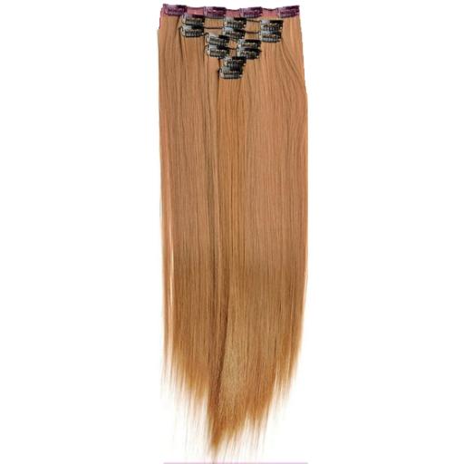 Kit extension à clips Lisse 55cm Couleur #14 - Blond foncé