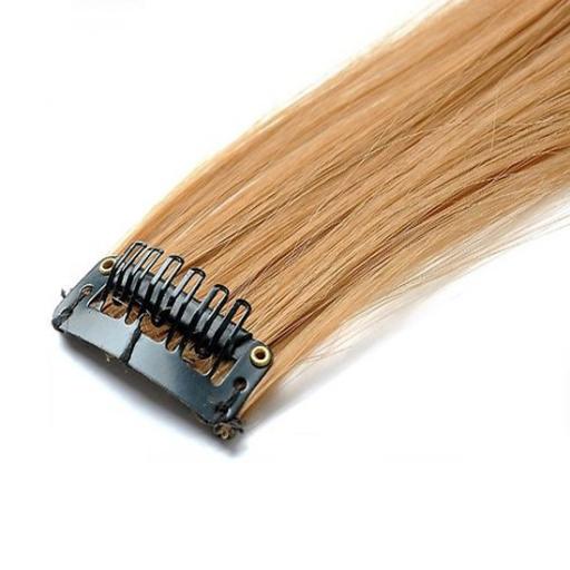 Mèche extension à clips 2 clips 55cm Couleur #16 - Châtain noisette