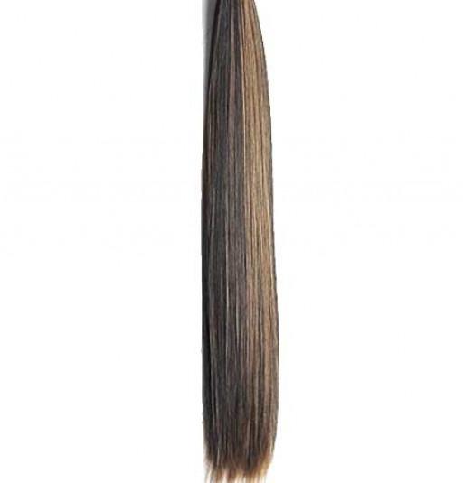 Kit extension à clips Lisse 70cm Couleur #1B/27 - Brun méché châtain/blond