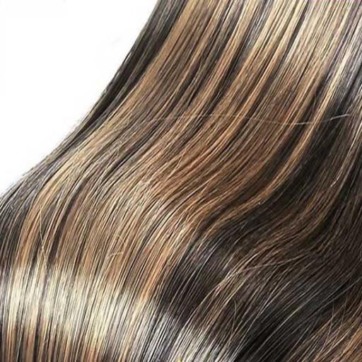 Kit extension Luxe Lisse 55cm Couleur #1B/27 - Brun méché châtain/blond