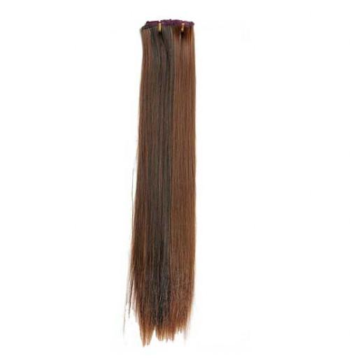 Kit extension à clips Lisse 70cm Couleur #1B/30 - Brun méché cuivre