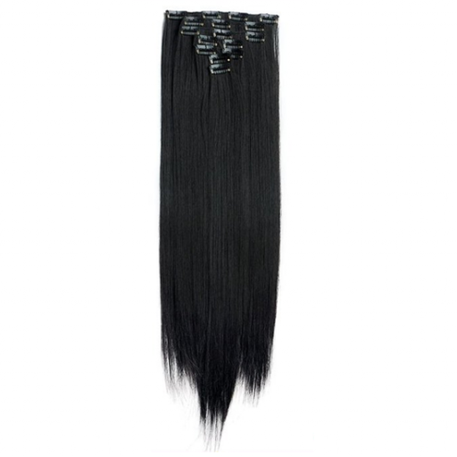 Kit extension à clips Lisse 55cm Couleur #1B - Noir ténèbres