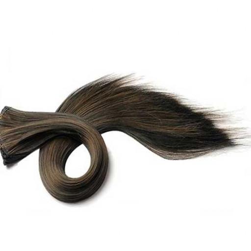 Tissage Lisse 35cm Couleur #1B/6 - Brun méché châtain