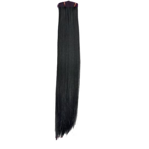 Tissage Lisse 60cm Couleur #1B - Noir ténèbres