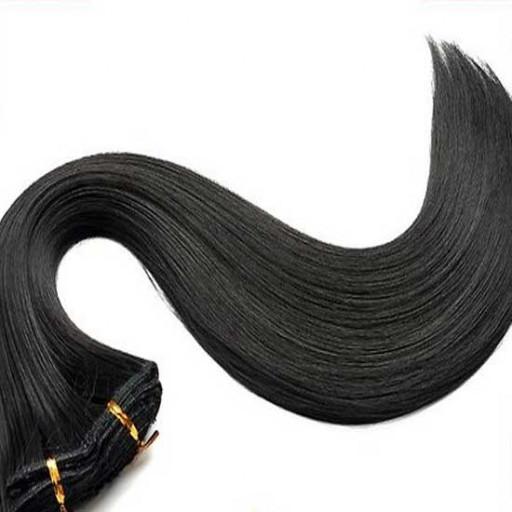 Tissage Lisse 25cm Couleur #2 - Noir Brun