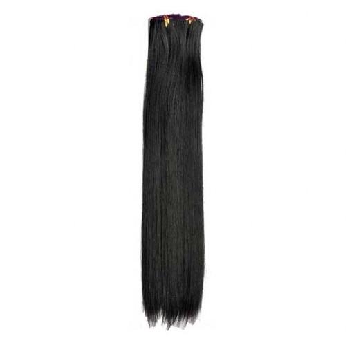 Kit extension à clips Lisse 70cm Couleur #2 - Noir Brun