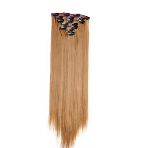 Kit extension à clips Lisse 55cm Couleur #27 - Blond moyen