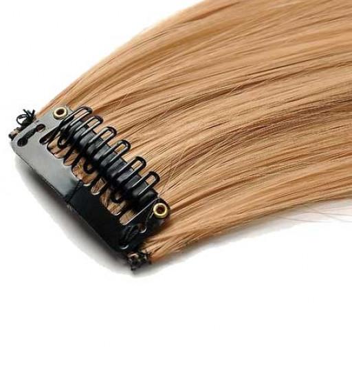 Mèche extension à clips 2 clips 55cm Couleur #27 - Blond moyen