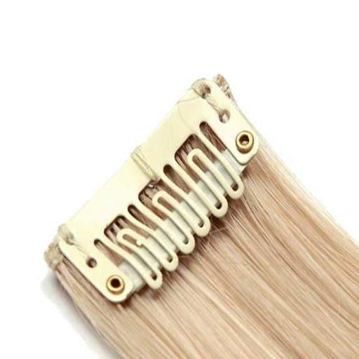 Mèche extension à clips 2 clips 55cm Couleur #27T/613 - Blond méché