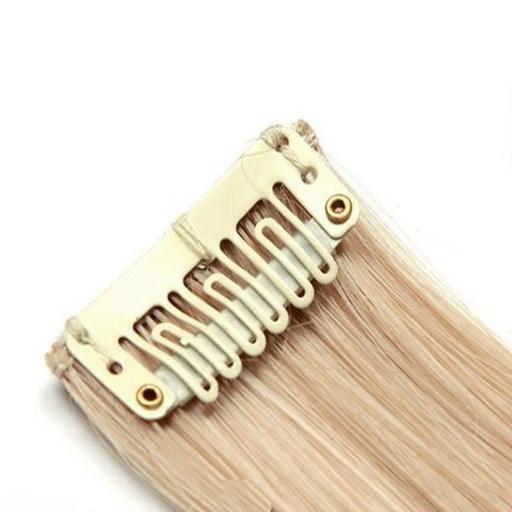Mèche extension à clips 3 clips 55cm Couleur #27T/613 - Blond méché