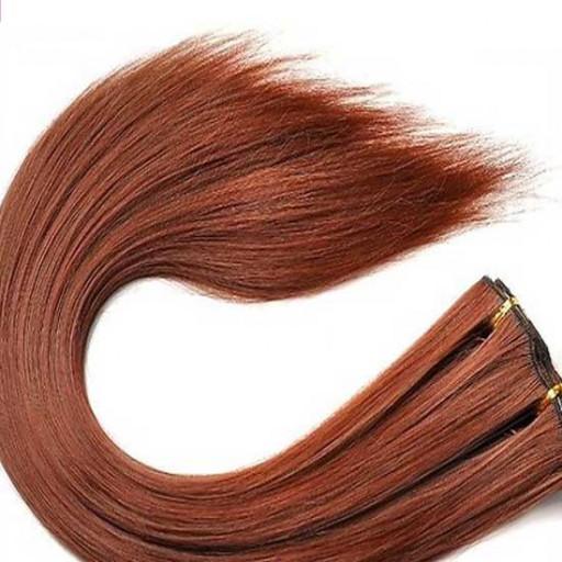 Kit extension à clips Lisse 45cm Couleur #30 - Châtain cuivre doux