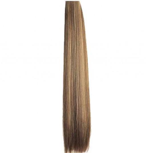 Kit extension à clips Lisse 70cm Couleur #4/24 - Châtain méché blond