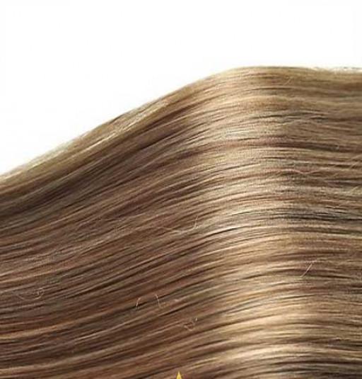 Kit extension Luxe Lisse 55cm Couleur #4/24 - Châtain méché blond