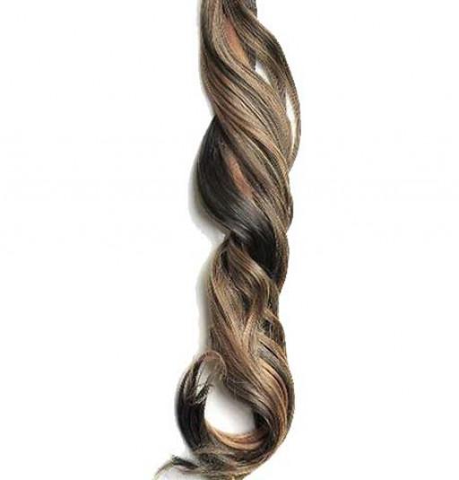 Kit extension à clips Ondulé 70cm Couleur #1B/27 - Brun méché châtain/blond