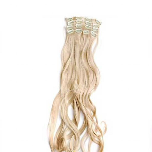 Kit extension à clips Ondulé 55cm Couleur #24 - Blond doré