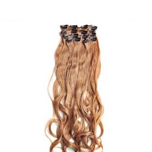 Kit extension à clips Ondulé 55cm Couleur #27 - Blond moyen