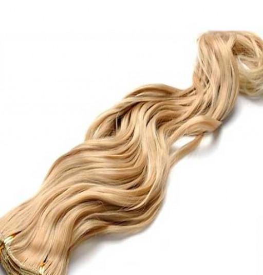 Kit extension à clips Ondulé 45cm Couleur #27T/613 - Blond méché