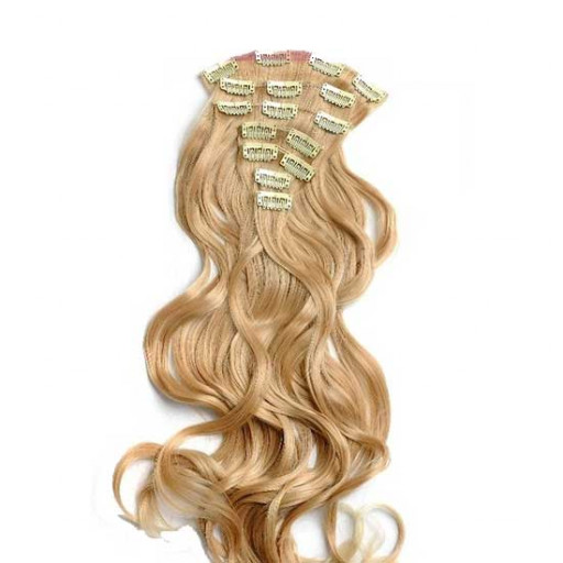 Kit extension à clips Ondulé 55cm Couleur #27T/613 - Blond méché