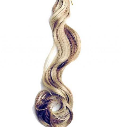 Kit extension à clips Ondulé 55cm Couleur #4/24 - Châtain méché blond