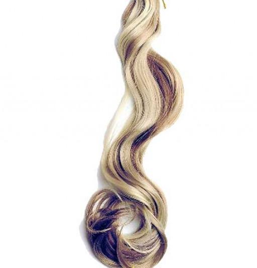 Kit extension à clips Ondulé 70cm Couleur #4/24 - Châtain méché blond