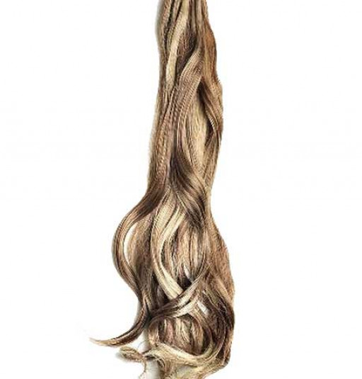 Kit extension à clips Ondulé 70cm Couleur #4/613 - Châtain foncé méché blond clair