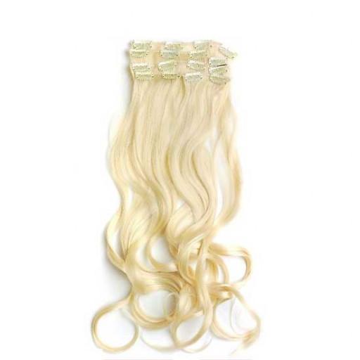 Kit extension à clips Ondulé 55cm Couleur #613 - Blond platine