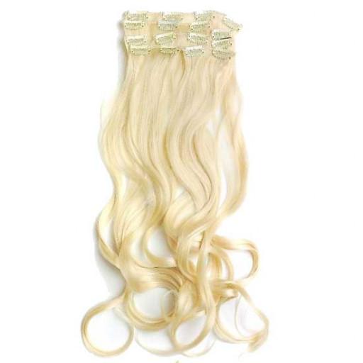 Kit extension Volume + Ondulé 55cm Couleur #613 - Blond platine