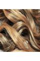 Kit extension Volume + Bouclé 55cm Couleur #1B/27 - Brun méché châtain/blond